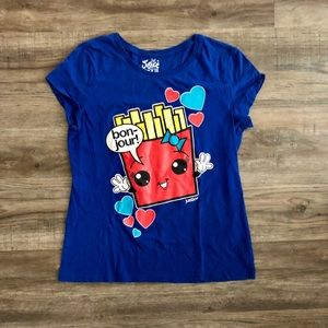 Justice Girl's Blue French Fry Tee